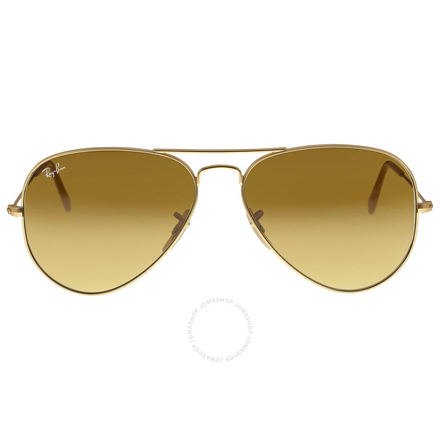 discount ray ban aviator large metal matte gold brown ...
