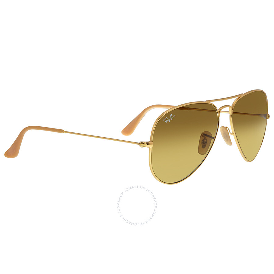 rayban aviator gold brown gradient 58mm unisex sunglasses 11285 aviator ray ban sunglasses