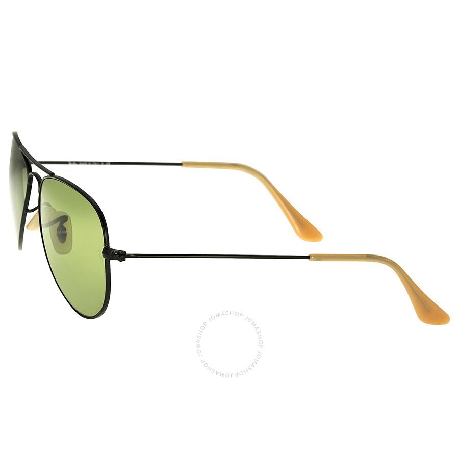 Ray-Ban Aviator Small Metal Black Frame Green Lens Men\'s 52mm Men\'s ...