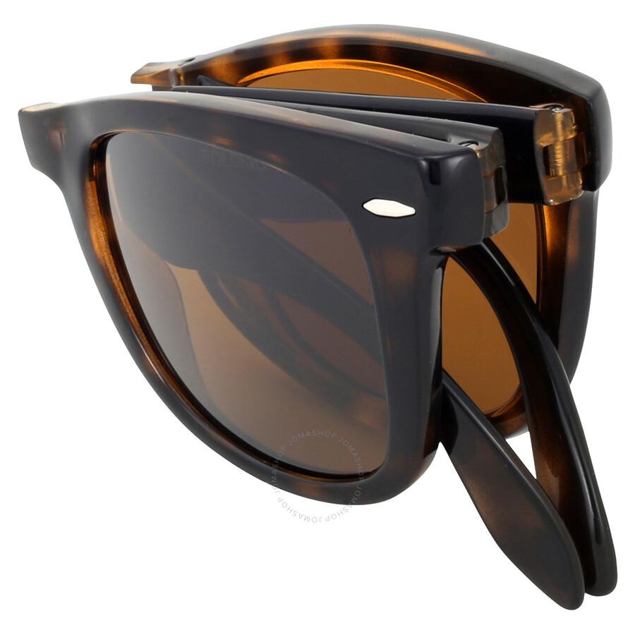 718fe2ff0ac ... spain rayban folding wayfarer light havana tortoise resin sunglasses  rb4105 50 710 c9b92 d1b91