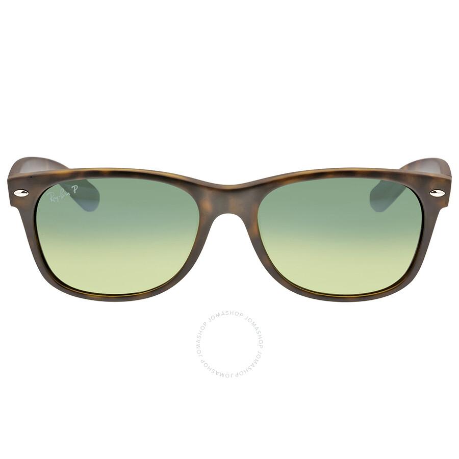 ray-ban new wayfarer havana blue-green 55mm polarized sunglasses