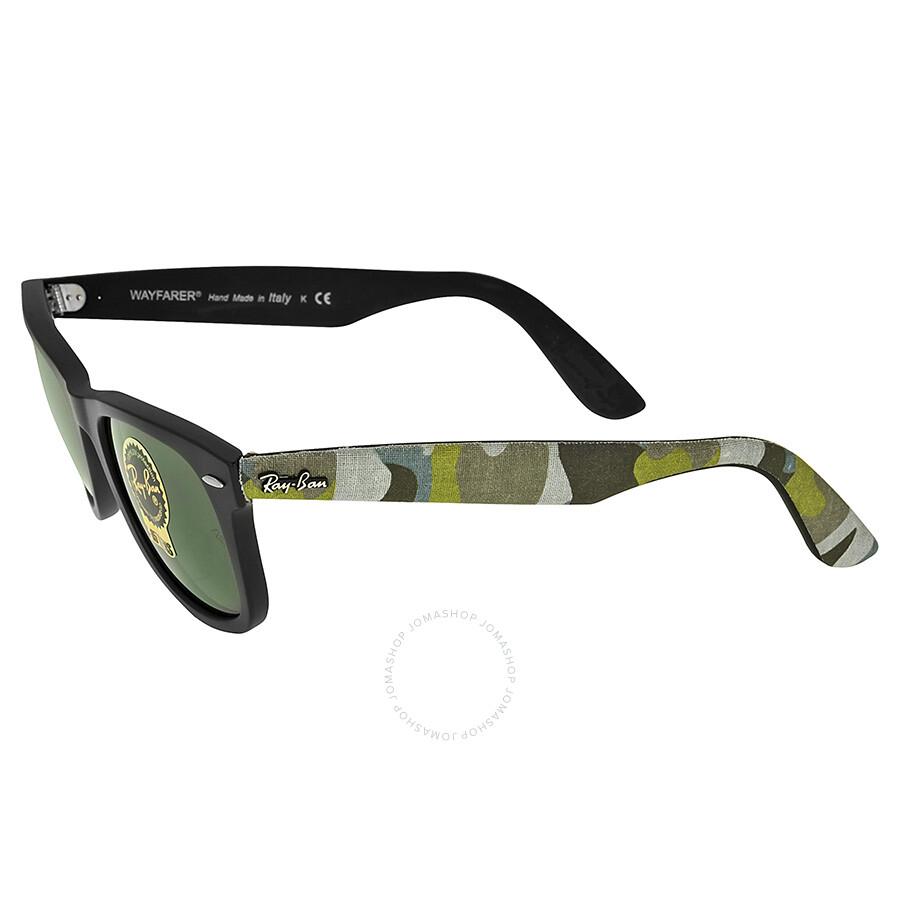 Ray-Ban Original Wayfarer Matte Black and Green Plastic Frames 50mm ...