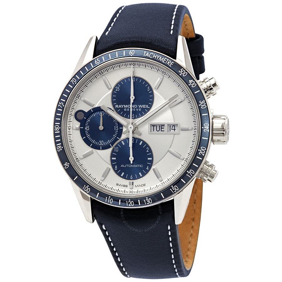 Raymond weil freelancer chronograph automatic silver dial men 39 s watch 7731 sc3 65521 for Raymond watches