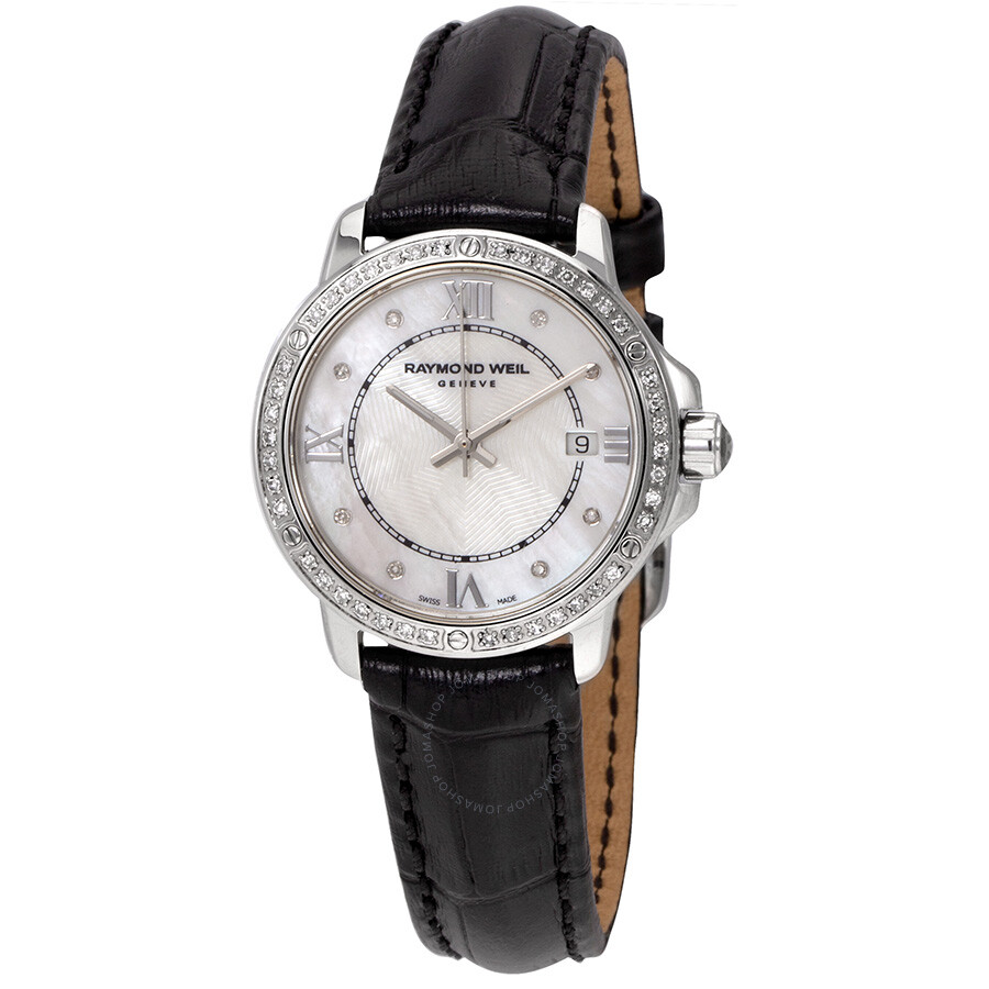 Raymond Weil Tango Diamond White Mother of Pearl Dial Ladies Watch 5391-LS1-..
