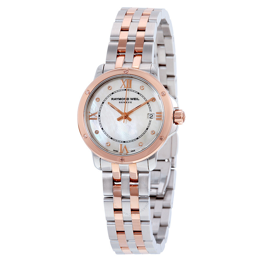 Raymond Weil Tango Mother of Pearl Diamond Dial Two-tone Ladies Watch 5391-S..