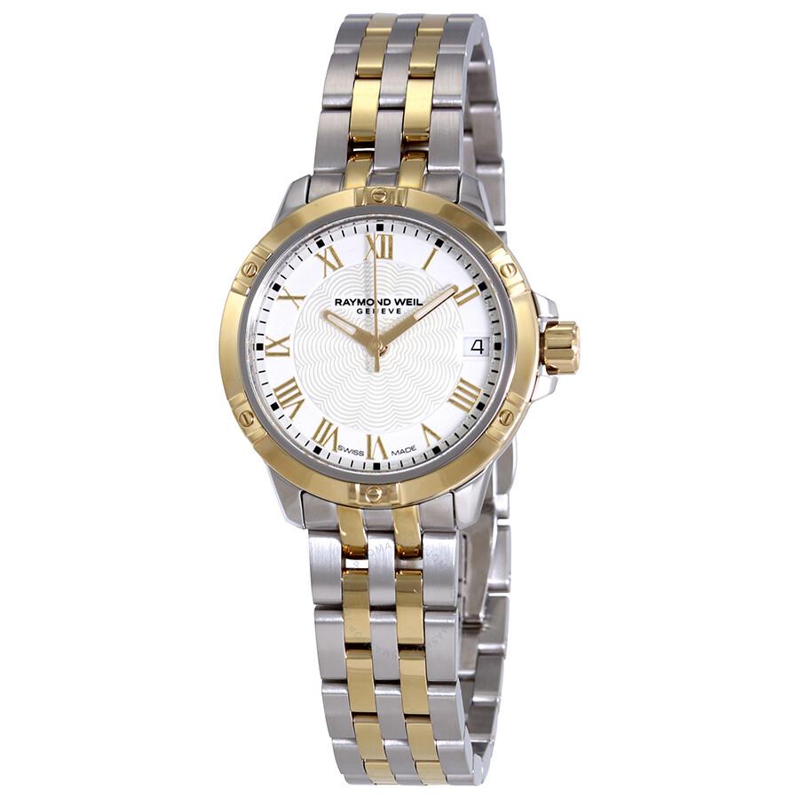 Raymond Weil Tango White Dial Ladies Two Tone Watch 5960-STP-00308