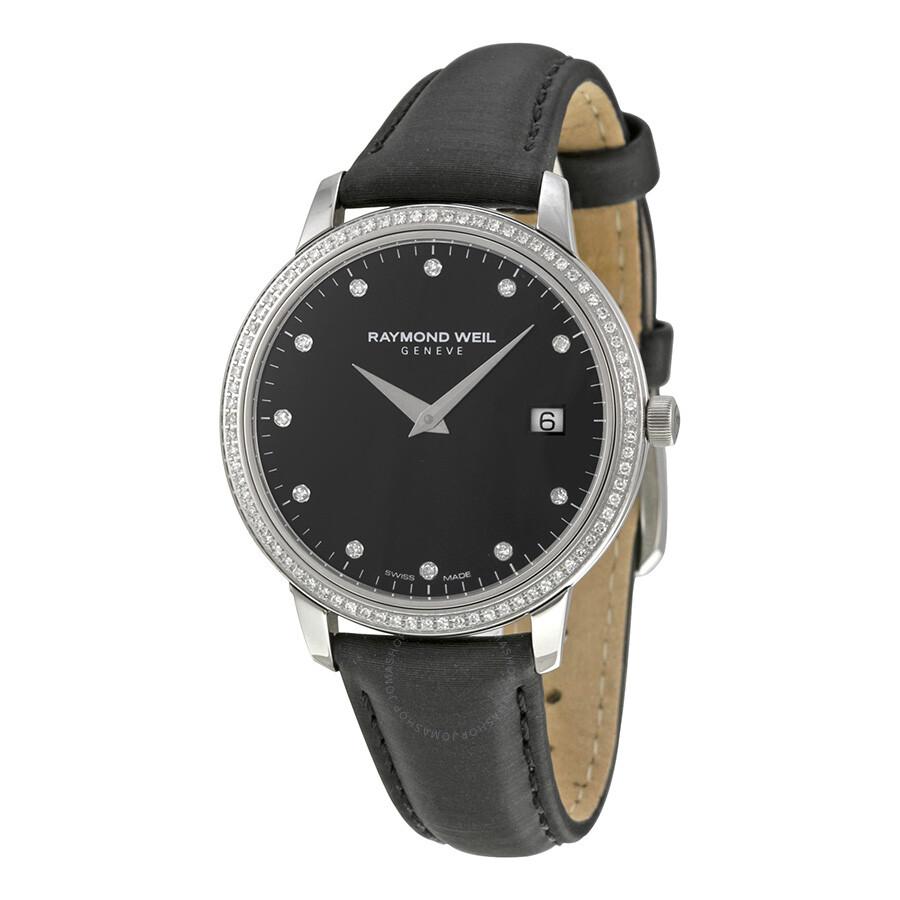 Raymond weil toccata black dial diamond ladies watch 5388 sls 20081 toccata raymond weil for Raymond watches