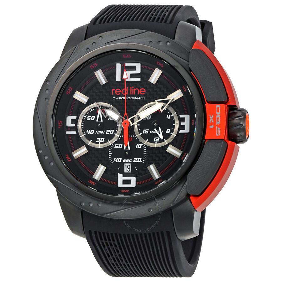 Red Line Chronograph Black Dial Men's Watch 309C-BB-01-OA ... - photo #49