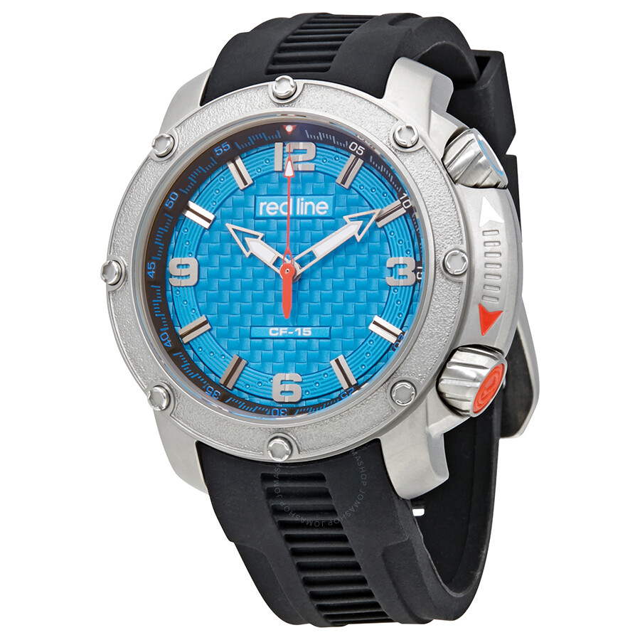 redline blue dial black rubber strap men s watch rl 310 03 red