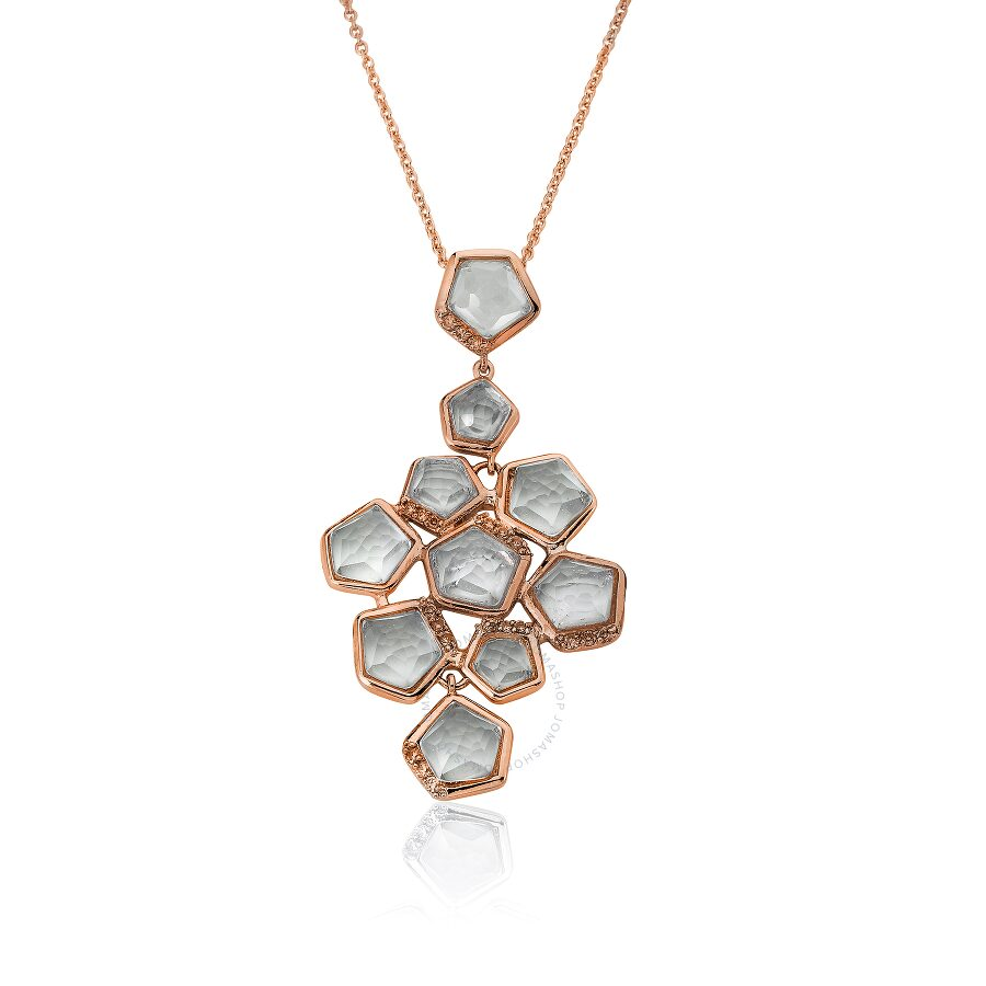 Riccova City Lights Rose Gold Plated Cubic Zirconia Accented Clear Faceted S..