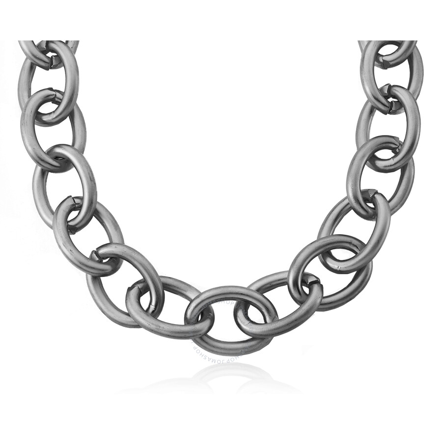 Riccova Links Satin Black Rhodium Plated Heavy Link Chain Necklace Accented With 14k Gold Plated Ham