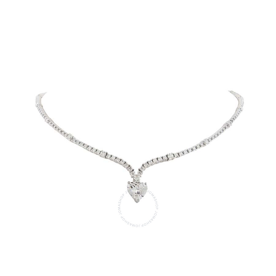 Riviera Necklace with Heart Shape Diamond 6.53 CT