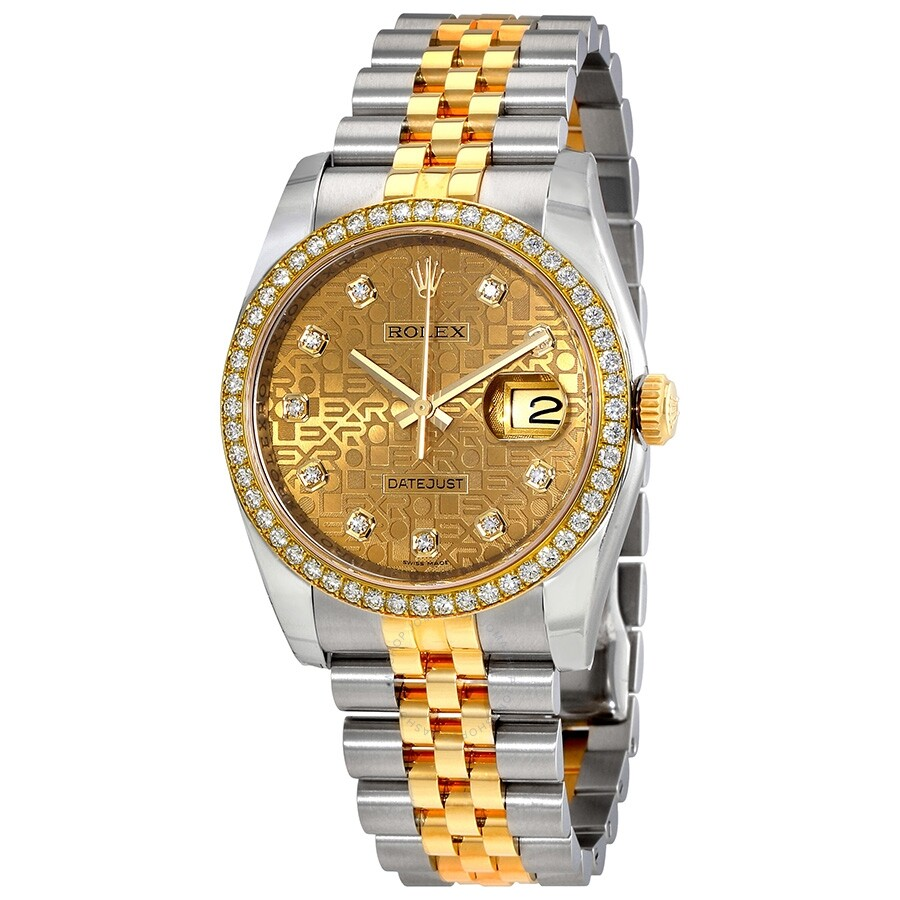 Rolex Oyster Perpetual Datejust 36 Champagne Dial Stainless Steel and 18K Yellow Gold Jubi