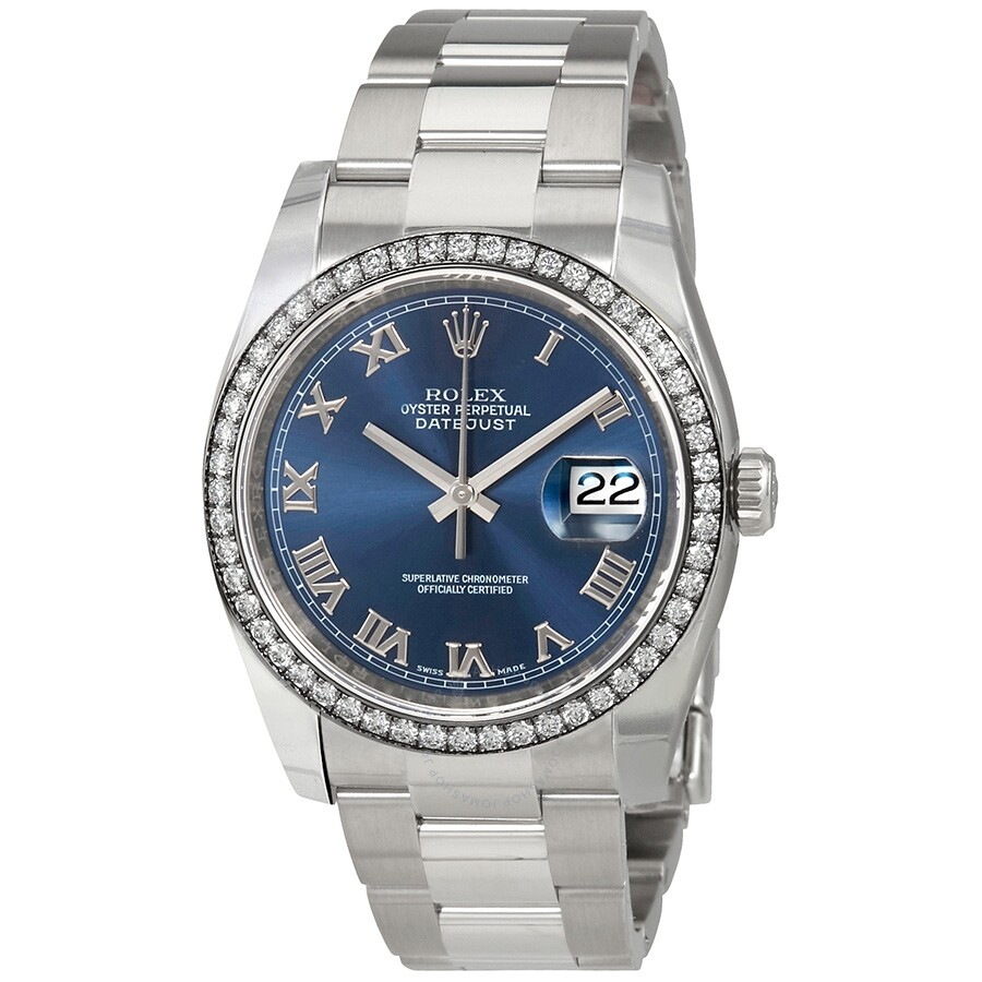 Rolex Oyster Perpetual Datejust 36 Blue Dial Stainless Steel Bracelet Automa..