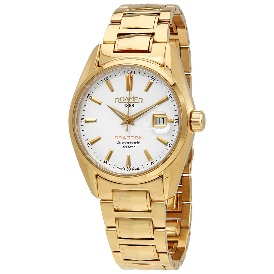 Roamer Searock Automatic White Dial Mens Watch 210633 48 25 20