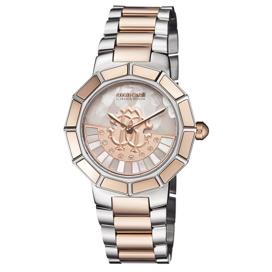 Roberto Cavalli White Mother of Pearl Ladies Watch RV2L011M0136