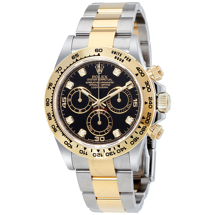 Rolex Cosmograph Daytona Black Diamond Dial Steel and 18K ...