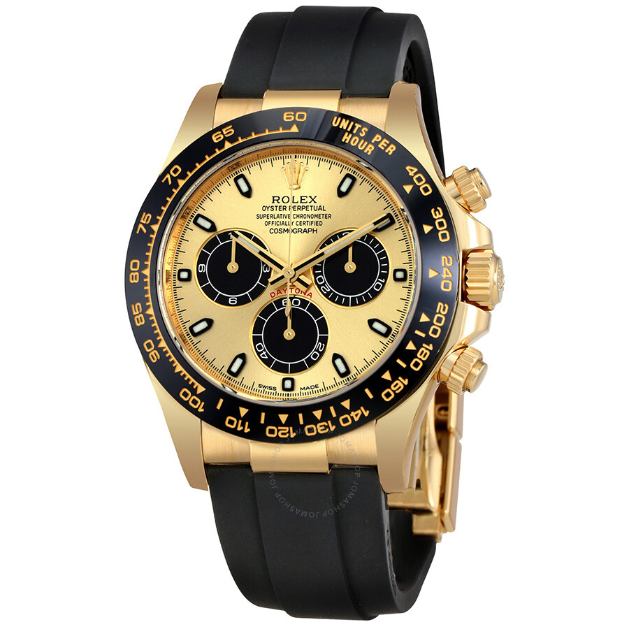 Rolex cosmograph daytona chronograph automatic men 39 s oysterflex watch 116518cbksr cosmograph for Rolex cosmograph daytona