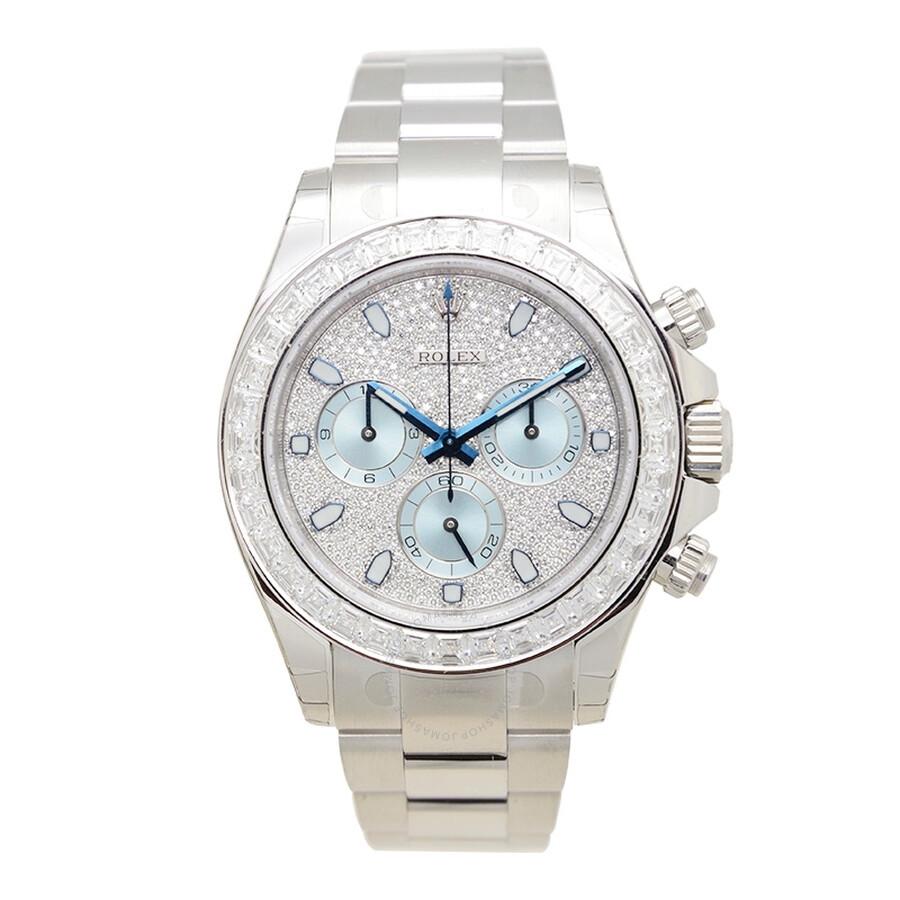 Rolex Cosmograph Daytona Diamond Pave Dial Platinum Mens Watch 116576TBR