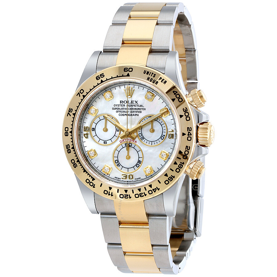 Rolex Cosmograph Daytona Mother Of Pearl Diamond Steel And