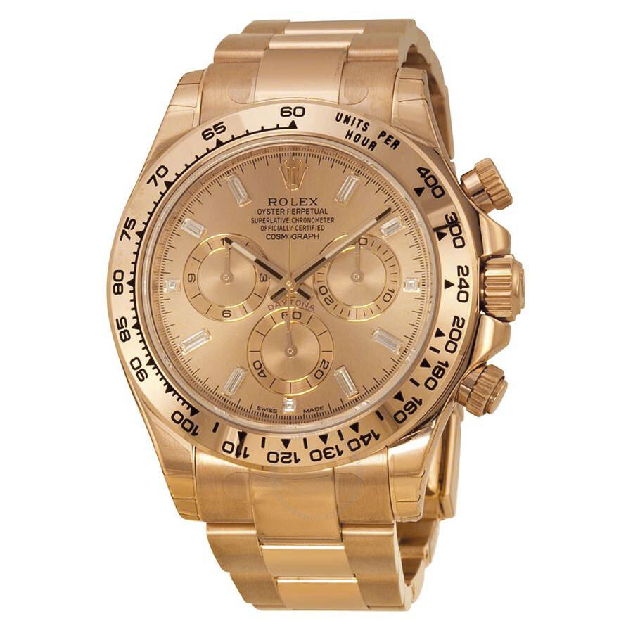 Rolex cosmograph daytona pink gold dial 18k everose gold oyster bracelet automatic men 39 s watch for Rolex cosmograph daytona