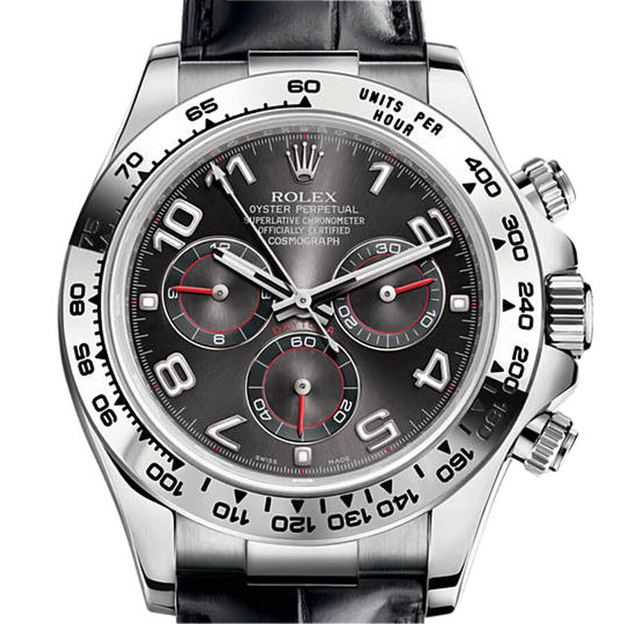 Rolex Cosmograph Daytona Slate Dial 18 ct white gold Automatic Mens Watch 116519GRBKL