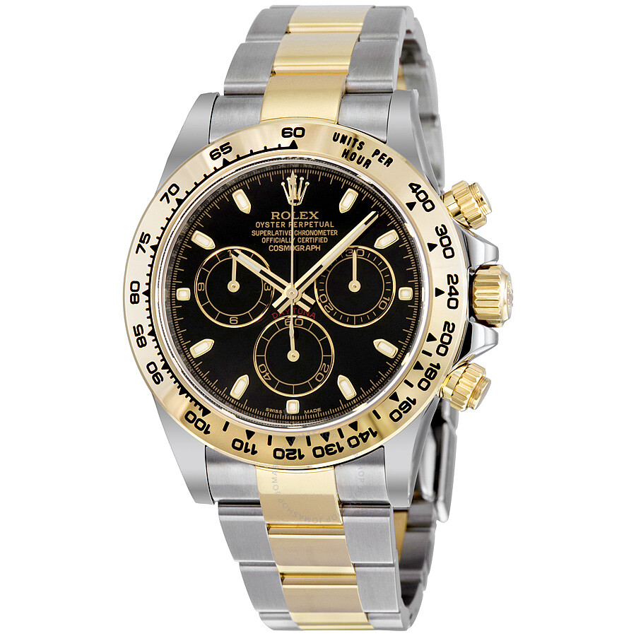 Rolex cosmograph daytona steel and 18k yellow gold oyster men 39 s watch 116503bkso cosmograph for Rolex cosmograph daytona