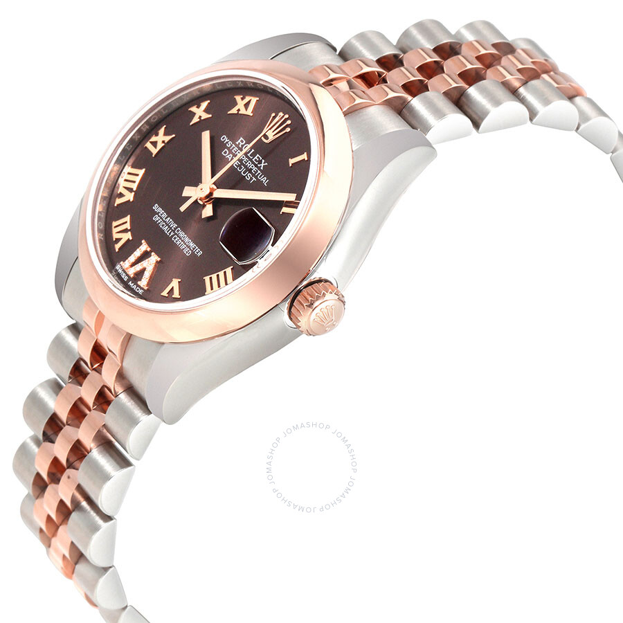 rolex datejust 31 automatic chocolate diamond dial ladies watch 178241chrdj datejust lady 31