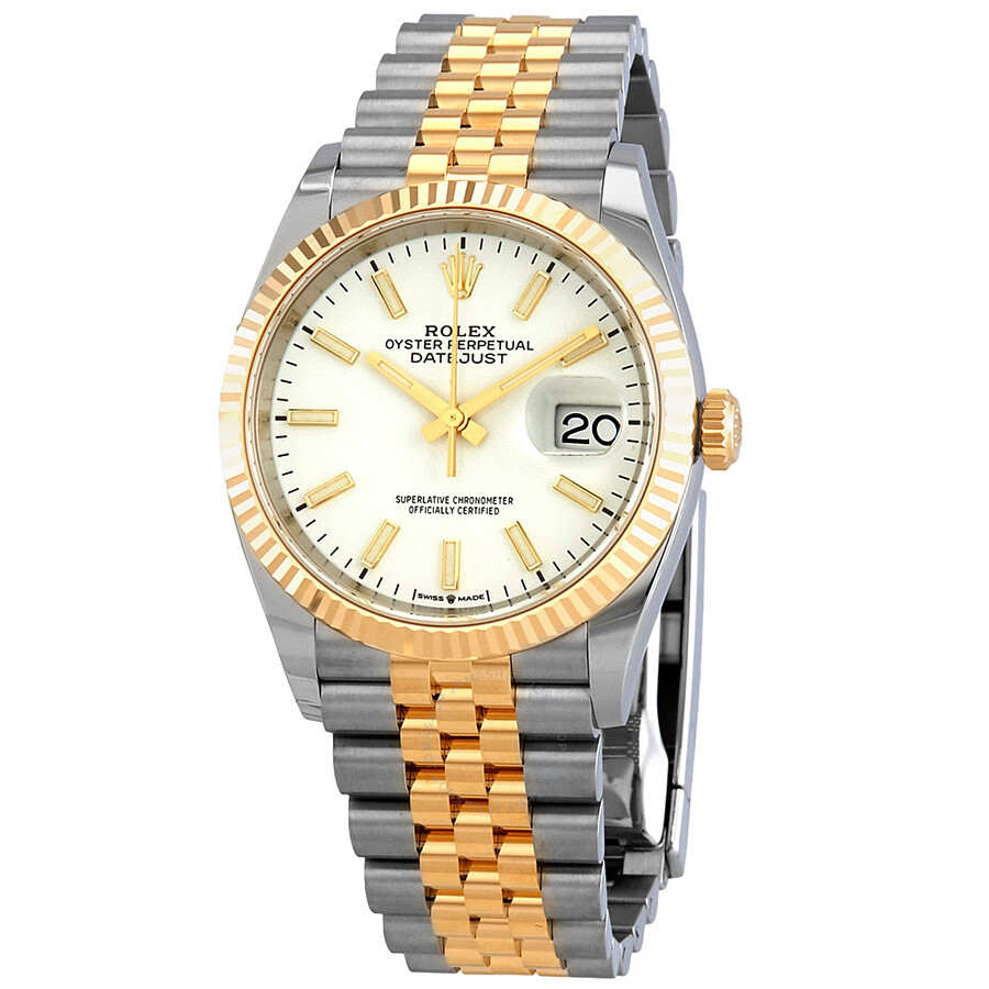 Rolex Datejust 36 White Dial Mens Steel and 18kt Yellow Gold Jubilee 126233WSJ