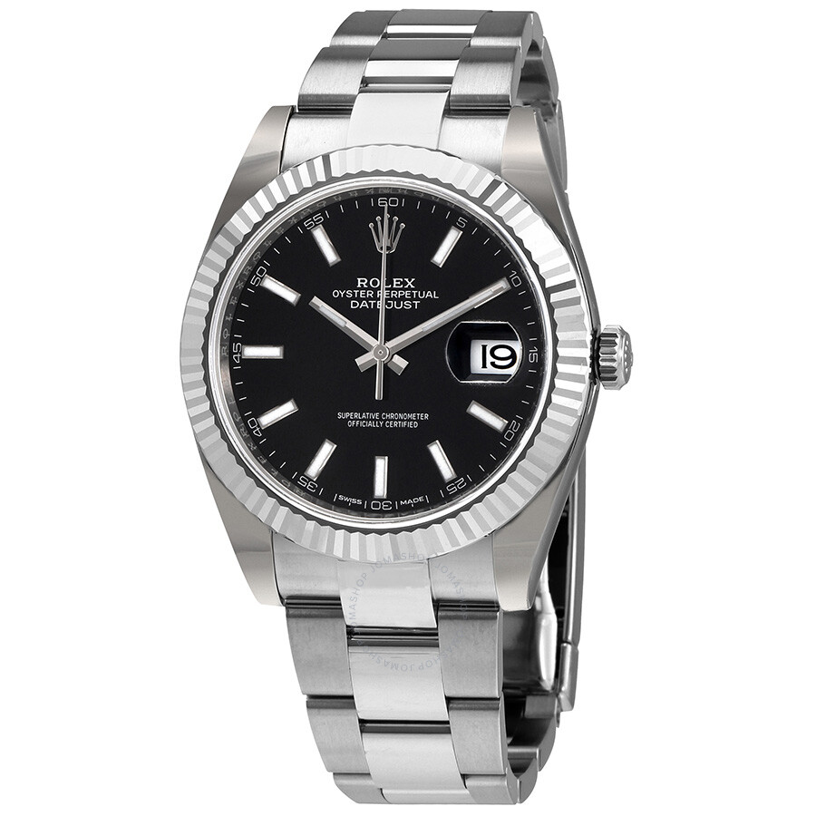 Rolex Datejust 41 Silver Dial Stainless Steel Automatic Mens Watch 126334BKSO