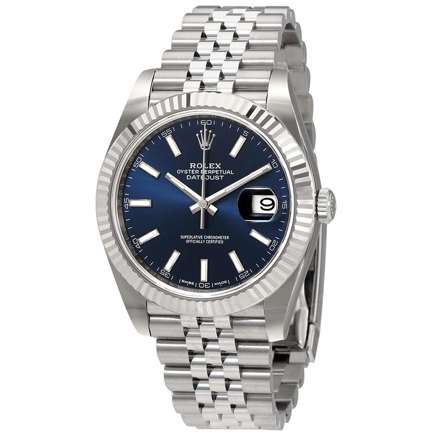 Rolex Datejust Blue Dial Automatic Mens Jubilee Watch 126334BLSJ