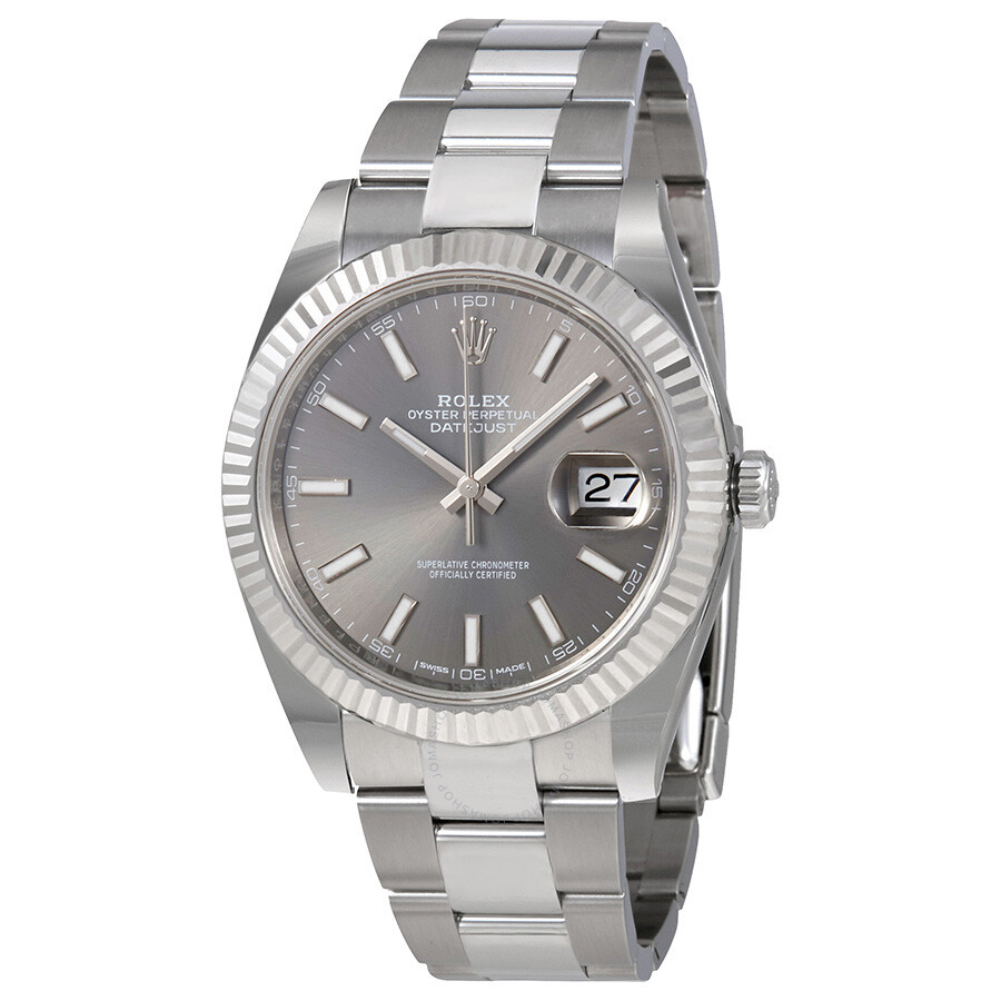 Rolex Datejust Dark Rhodium Automatic Mens Oyster Watch 126334RSO