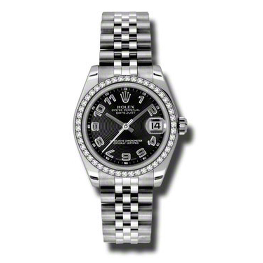 Rolex Datejust Lady 31 Black Concentric Circle Dial Stainless Steel Jubilee ..