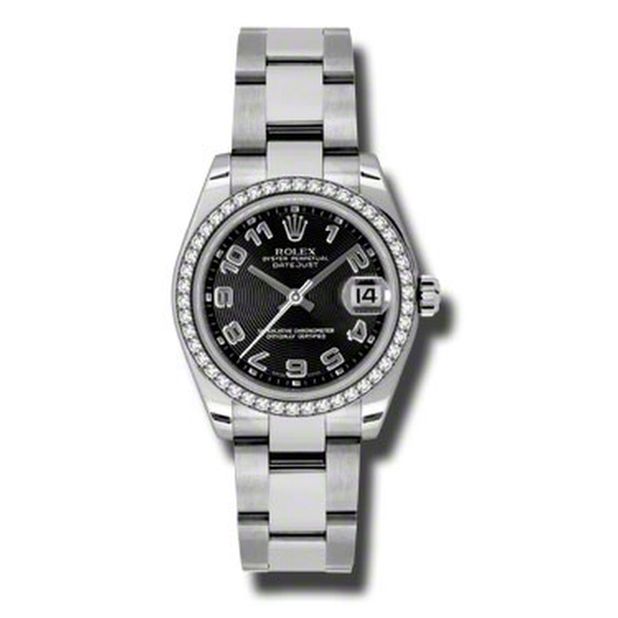 Rolex Datejust Lady 31 Black Concentric Dial Stainless Steel Oyster Bracelet..