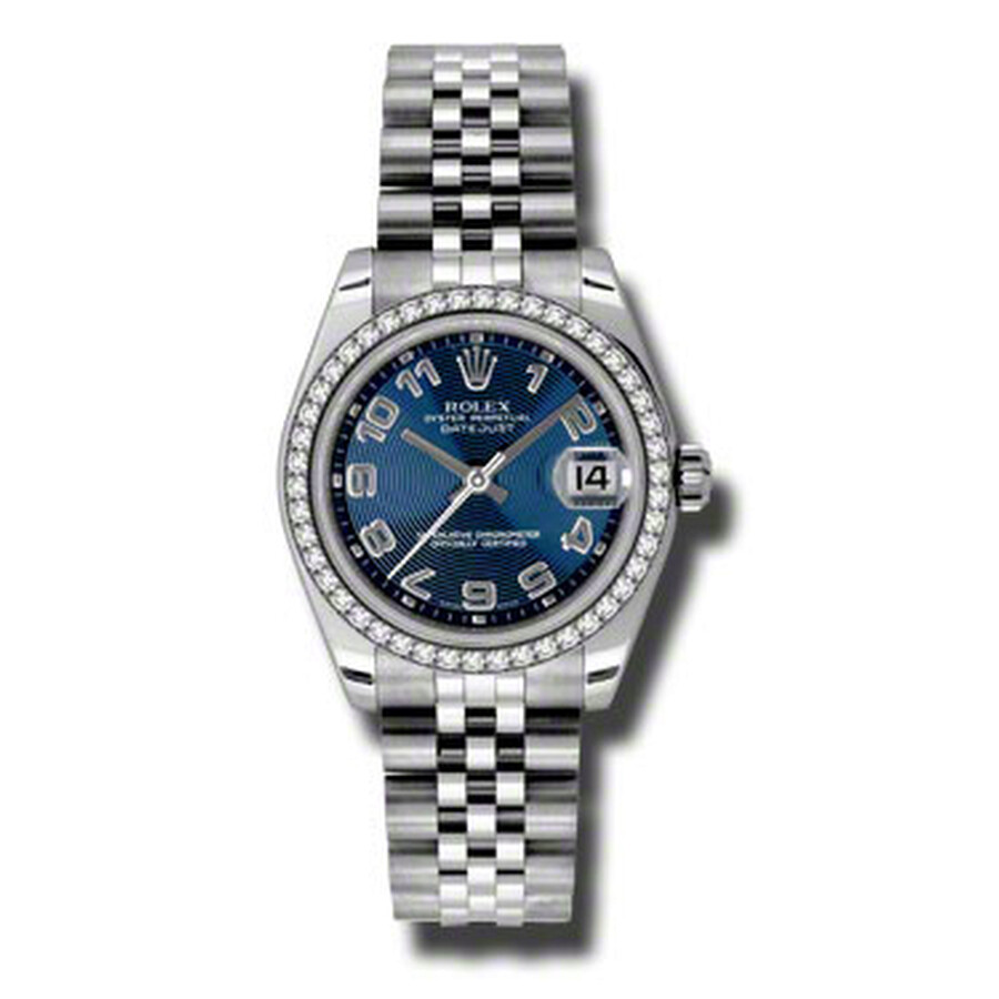 Rolex Datejust Lady 31 Blue Concentric Dial Stainless Steel Jubilee Bracelet..