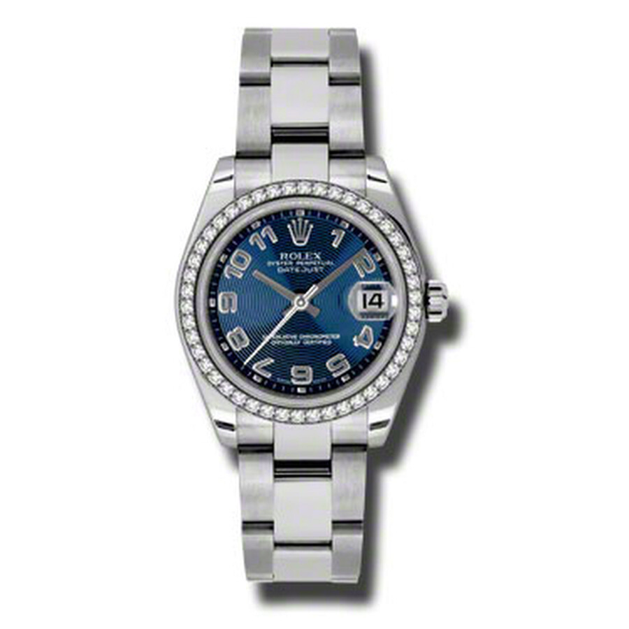 Rolex Datejust Lady 31 Blue Concentric Dial Stainless Steel Oyster Bracelet ..