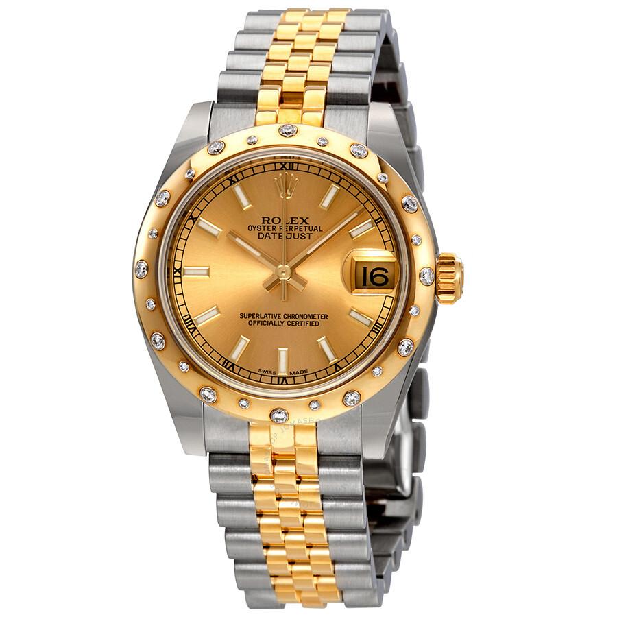 Rolex Datejust Lady 31 šampanským voľbou z nerezovej ocele a 18K žlté zlato  Ju. a49cd54620a