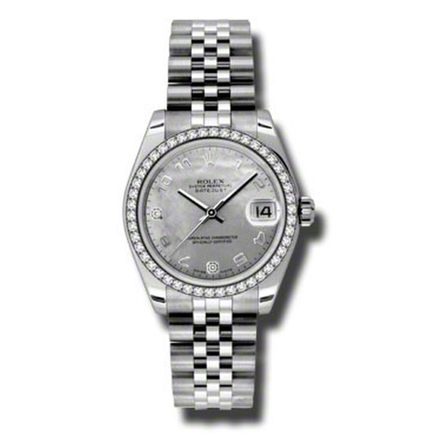 Rolex Datejust Lady 31 Goldust Mother of Pearl Dial Stainless Steel Jubilee ..