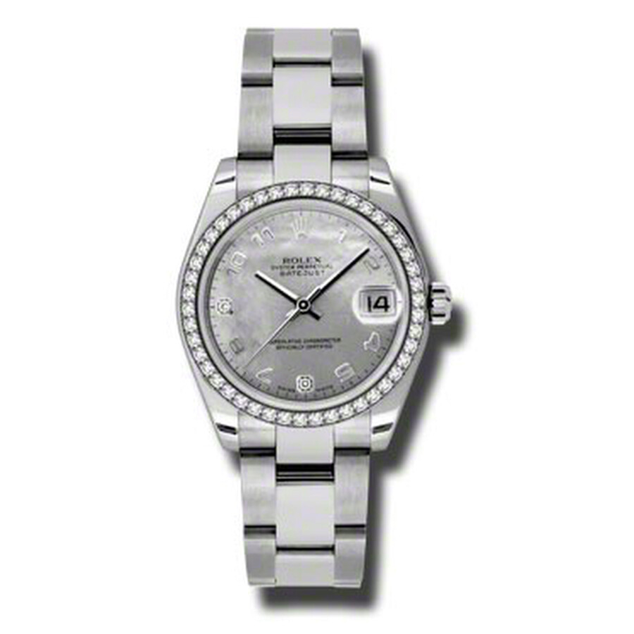 Rolex Datejust Lady 31 Goldust Mother Of Pearl Dial Stainless Steel Oyster B..