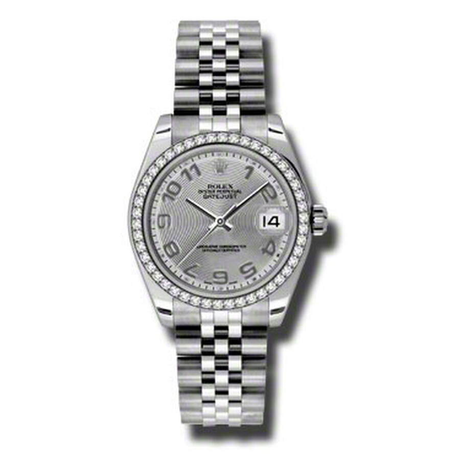 Rolex Datejust Lady 31 Silver Concentric Dial Stainless Steel Jubilee Bracel..