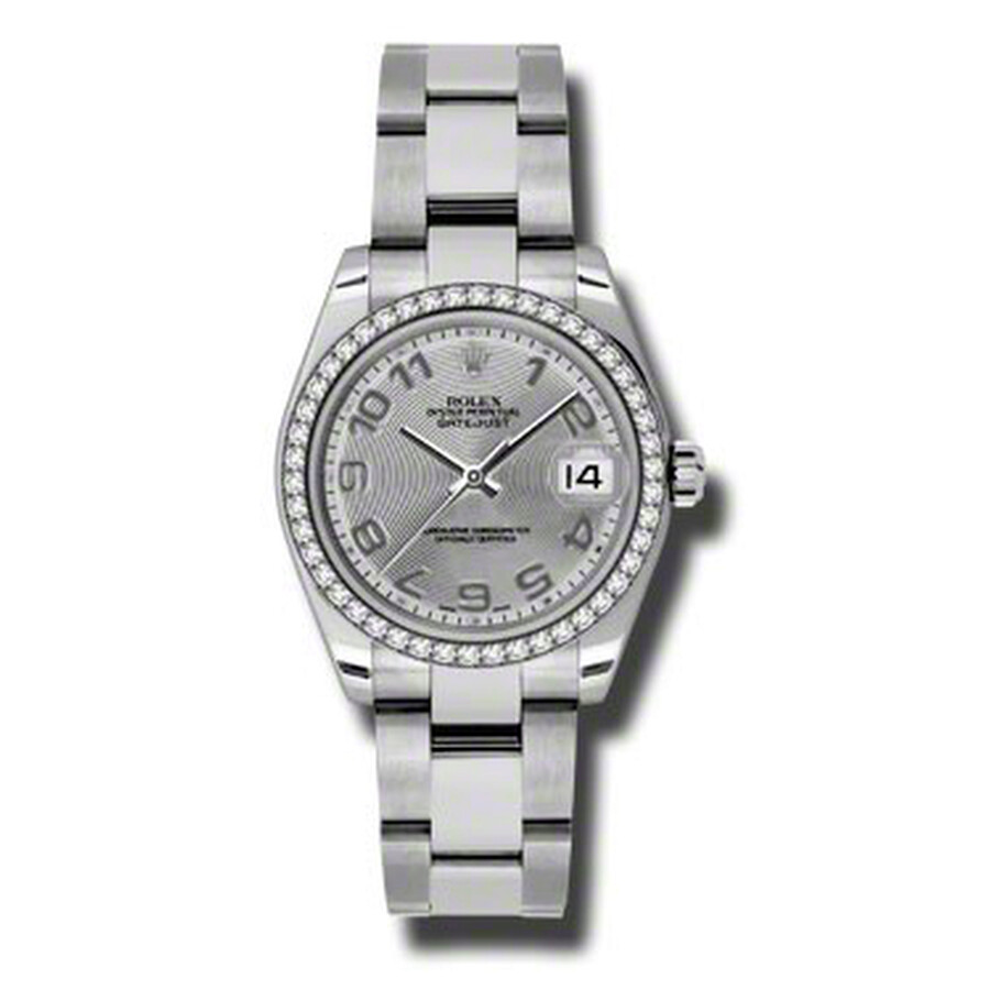 Rolex Datejust Lady 31 Silver Concentric Dial Stainless Steel Oyster Bracele..