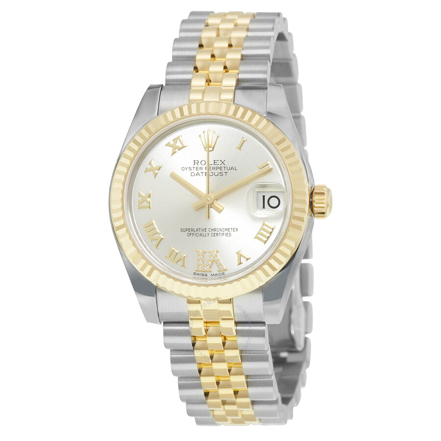 Rolex Datejust Lady 31 Silver Dial Steel and 18K Yellow Gold Automatic Watch..