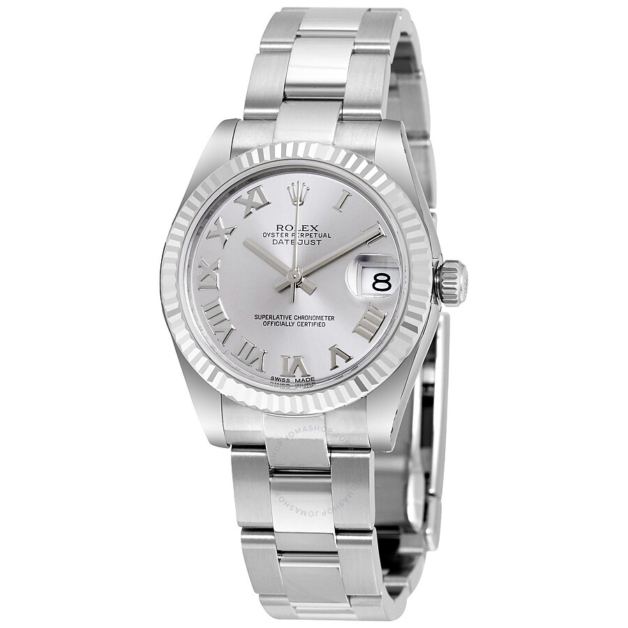 Rolex Datejust Rhodium Dial Stainless Steel Oyster Ladies Watch 178274RRO