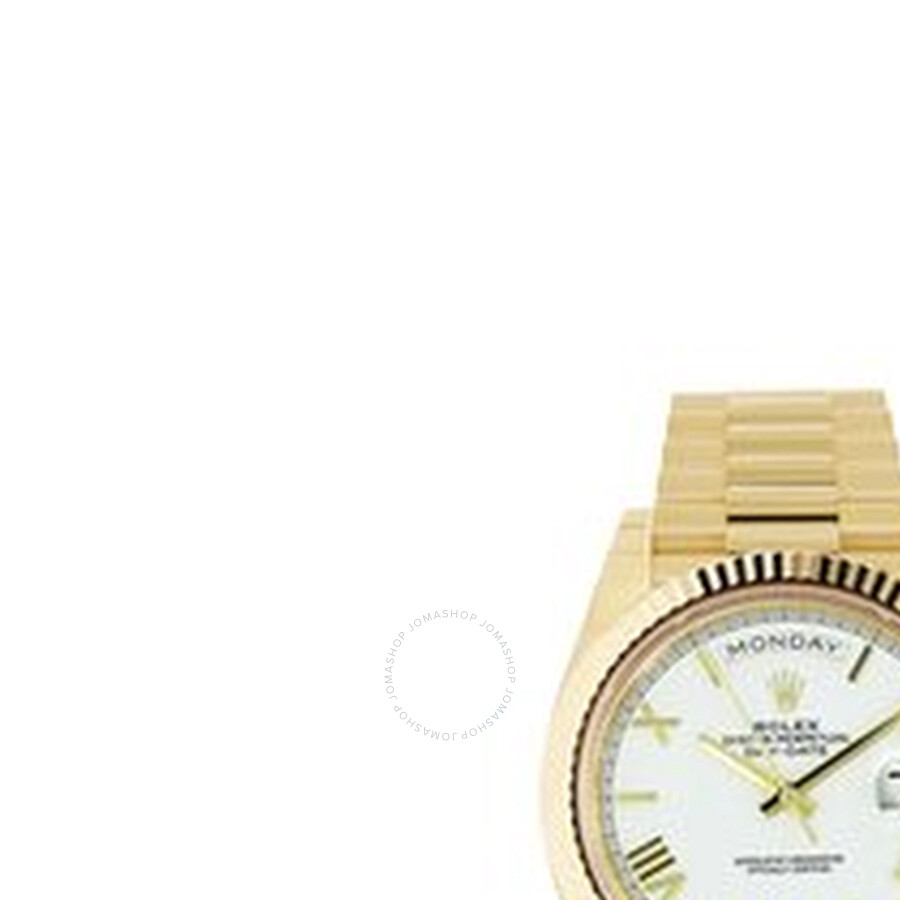 Rolex Day-Date 40 Automatic White Dial Mens 18kt Yellow Gold President Watch..