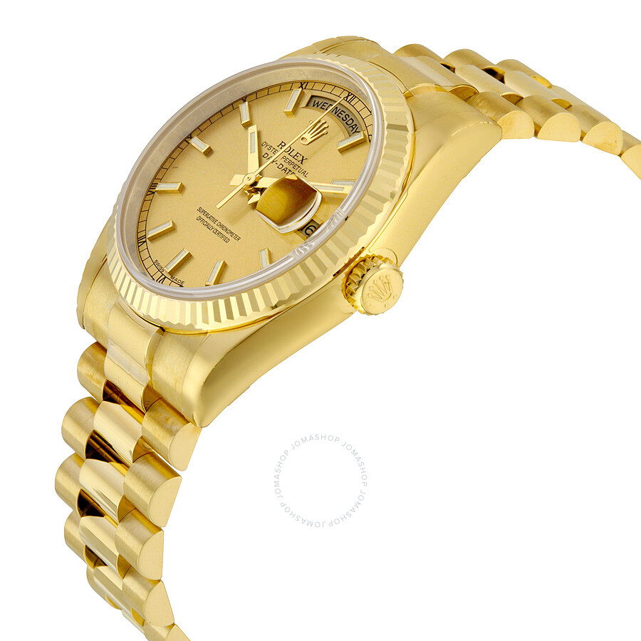 president for main watches rolex gold watch yellow men diamond