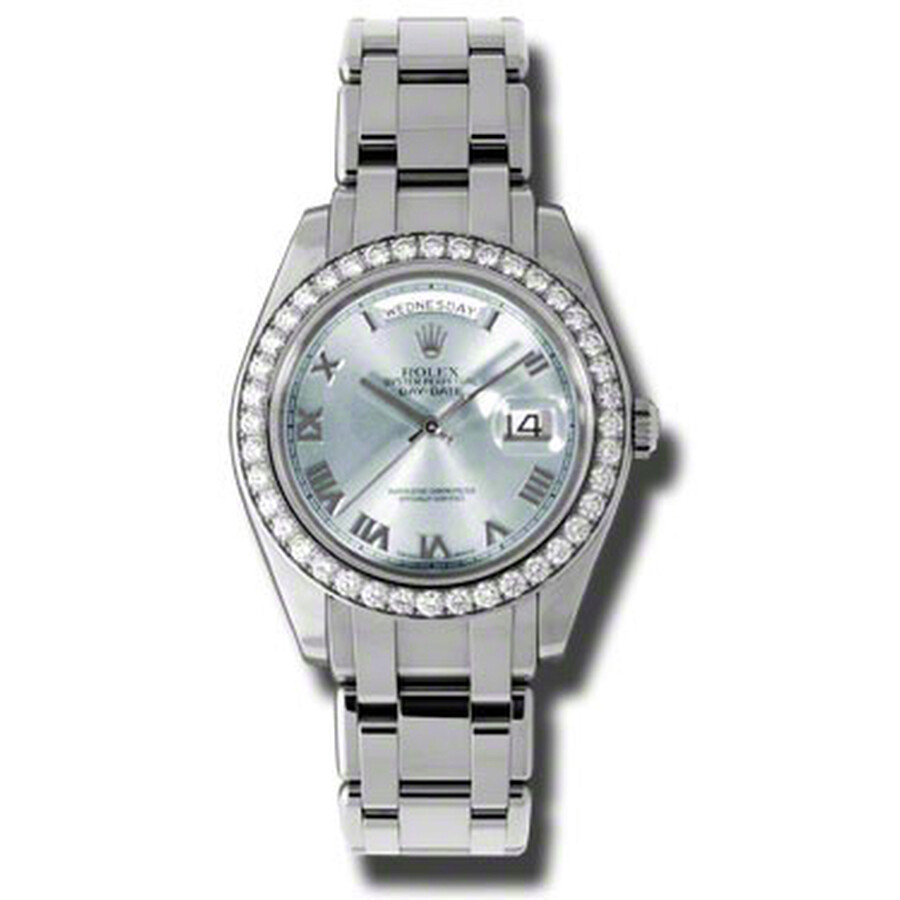 Rolex Day-Date Ice Blue Dial Platinum Automatic Mens Watch 18946IBLRPM