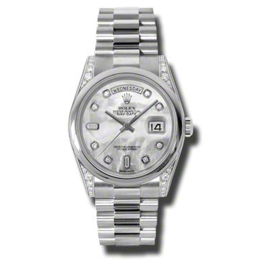 Rolex Day-Date Mother Of Pearl Dial Platinum President Automatic Mens Watch ..