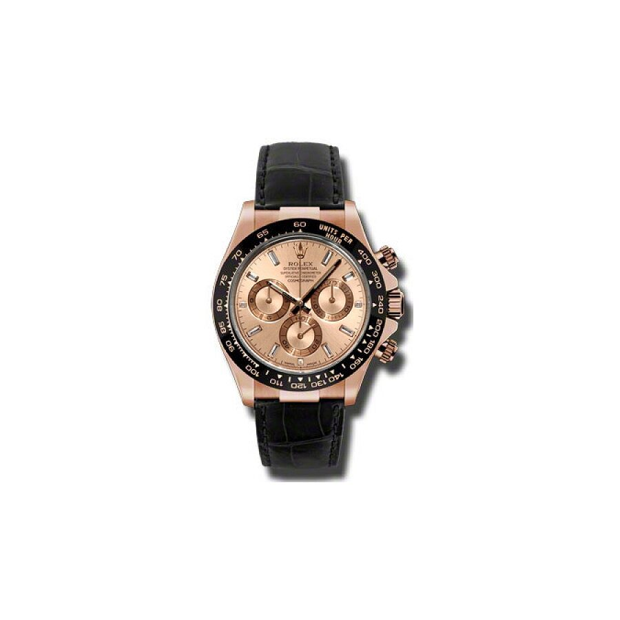 Rolex Daytona Champagne Dial Chronograph 18K Everose Gold Mens Watch 116515CSL