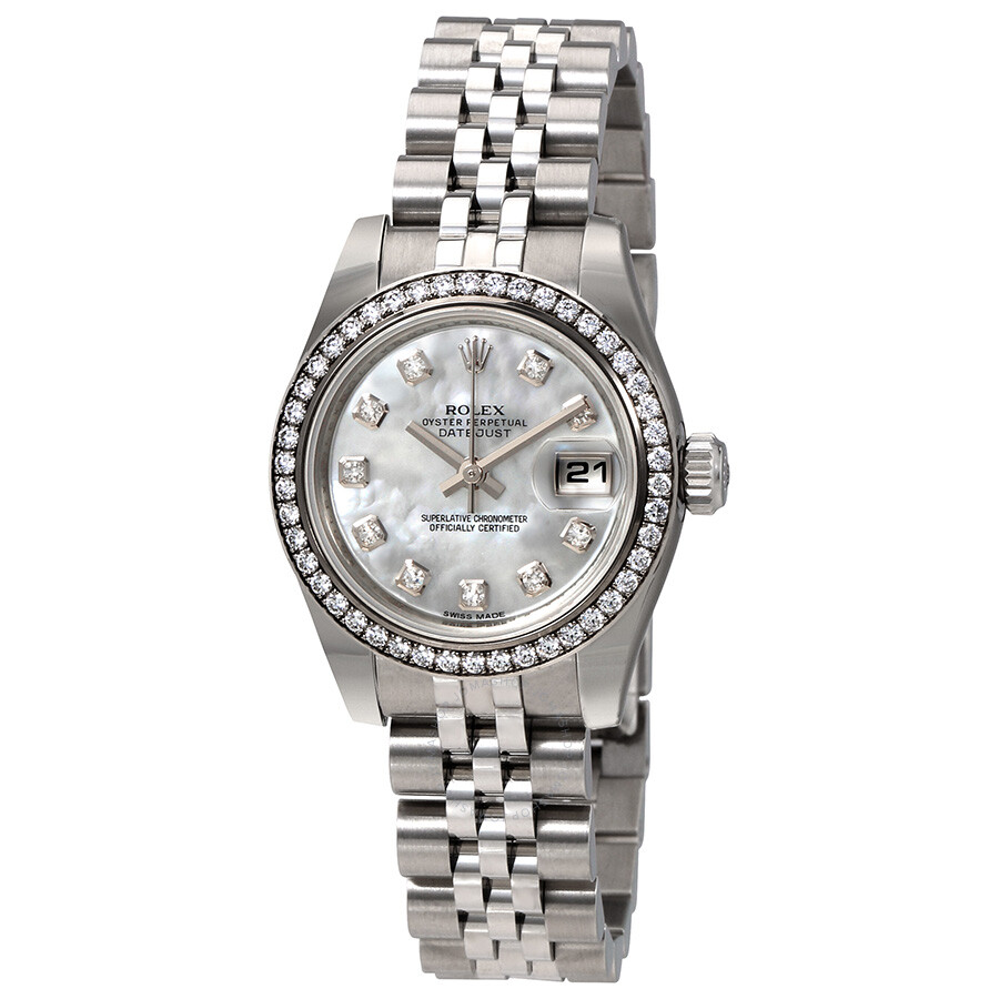 Rolex Lady Datejust 26 Mother of Pearl Dial Stainless Steel Jubilee Bracelet..