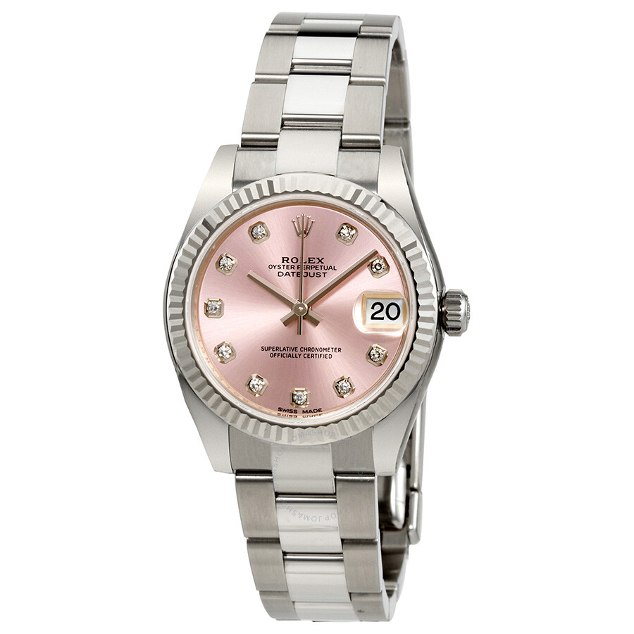 Rolex Lady Datejust Automatic Pink Diamond Dial Ladies Watch 178274PDO